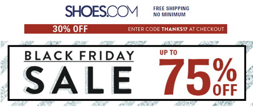 Shoes.com Black Friday Sale