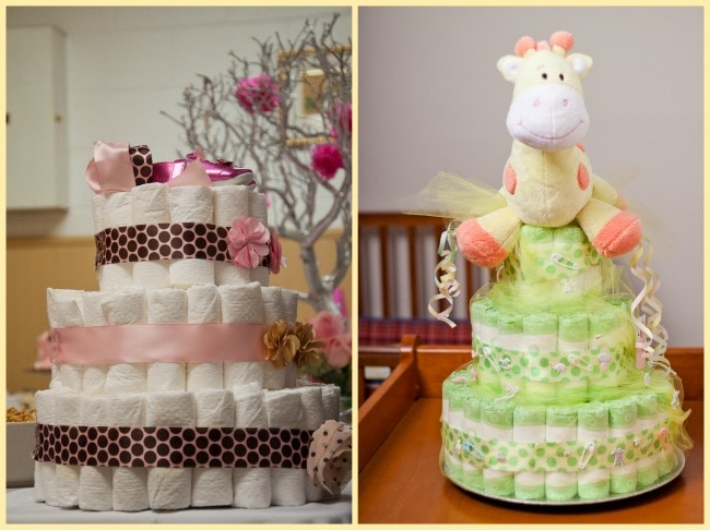Frugal Baby Shower Gift How To Make A Diaper Cake For
