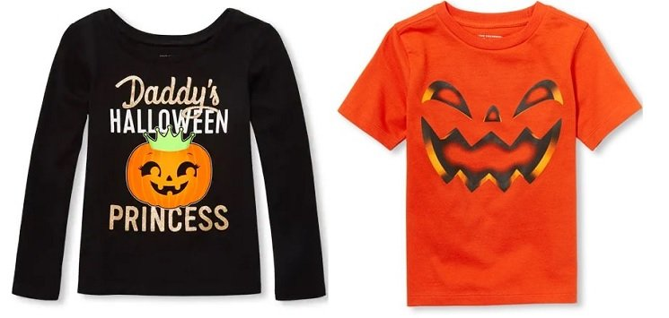 Children's Place Halloween Tees 50% Off + Free Shipping