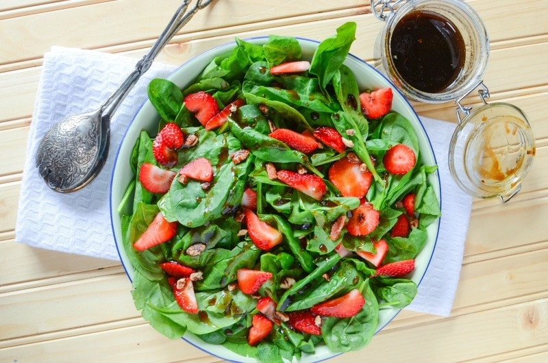 Strawberry Spinach Salad for Any Time of Year