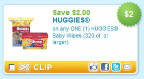 $2 off Huggies Wipes coupon