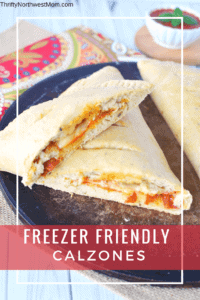 Calzones are a great make ahead freezer meal for those busy weeknights.