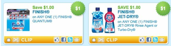 New Finish Dishwashing Coupons + Print Your Coupons for the End of the Month!