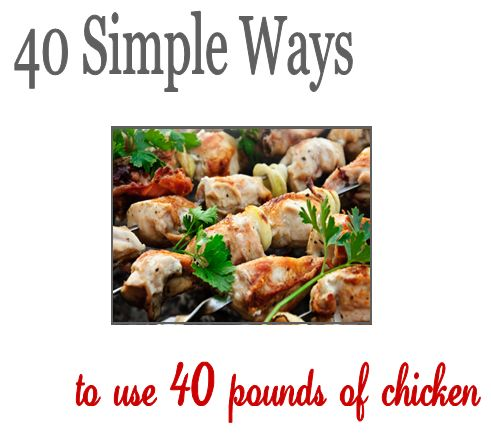 """New """"40 Simple Ways to Use 40 Pounds of Chicken"""" E-Book – Preparation, Freezer Meal Recipes & more"""
