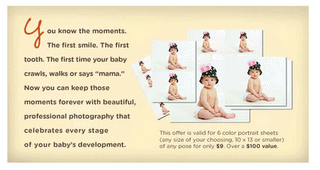 Picture People: 6 Photo Sheets for just $9
