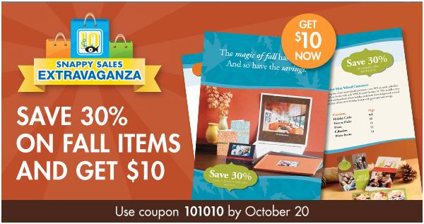 Snapfish – 30% off Purchase today + Bonus $10 Credit in 2 Days