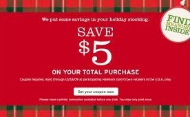 $5 off Hallmark Coupon in December Magazines