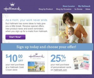 $10 off $10 Coupon for Hallmark Gold Crown Stores