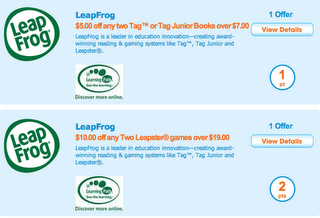 Leapfrog Coupons – $5 off 2 Tag or Tag Jr Books & $10 off 2 Leapster Games