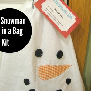 Snowman In a Bag Kit