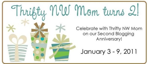 Thrifty NW Mom Turns 2 – Week-Long Giveaways!