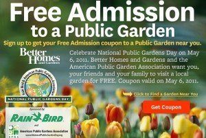 Free Garden Day on Friday May 6th