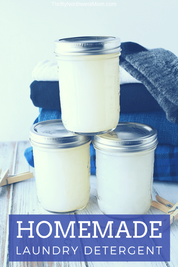 Homemade Laundry Detergent as a toxin free, chemical free, frugal way to wash your clothes