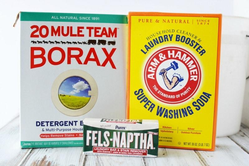 Ingredients for DIY Laundry Detergent
