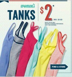 Old Navy $2 Tank Sale