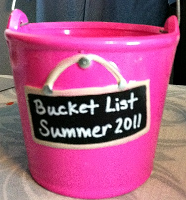 Bucket for Summer Bucket List