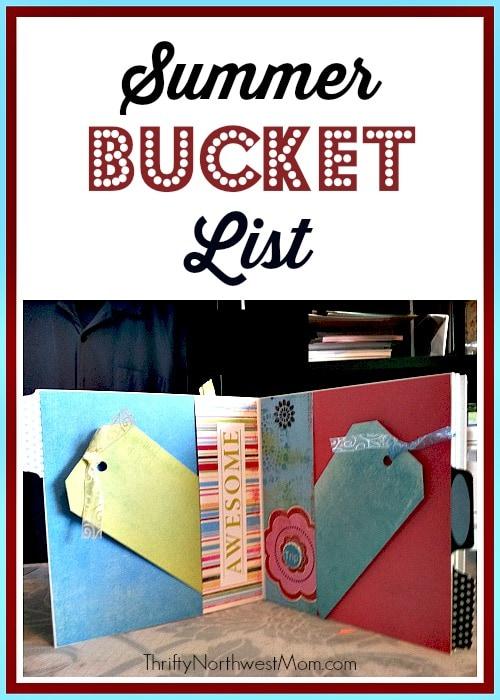 Summer Bucket List + Activity Ideas & FREE Bucket List Printables
