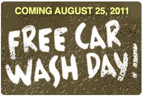 Free Car Wash Thursday, August 25th at Participating Brown Bear Locations