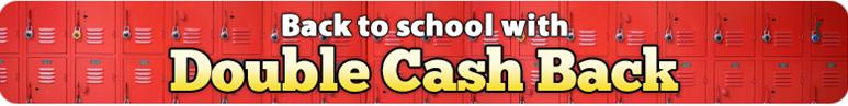 Double Cash Back through Ebates for Back to School