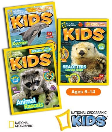 National Geographic Kids Magazine 1 year Subscription – $14.95 per year (57% off)!