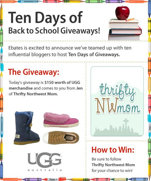 Giveaway: $150 Worth of Ugg Merchandise from Ebates