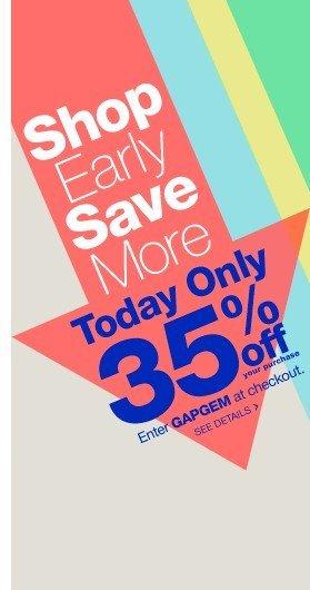 Gap.com – Save up to 35%
