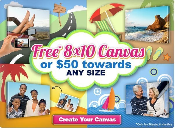 Canvas People: Get a FREE 8×10 Photo Canvas – You only pay shipping!