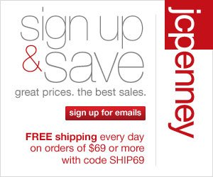JCPenney – $10 off $25 Printable Coupon