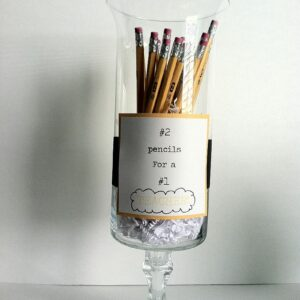 Teacher Gift: Pedestal Vase with Pencils