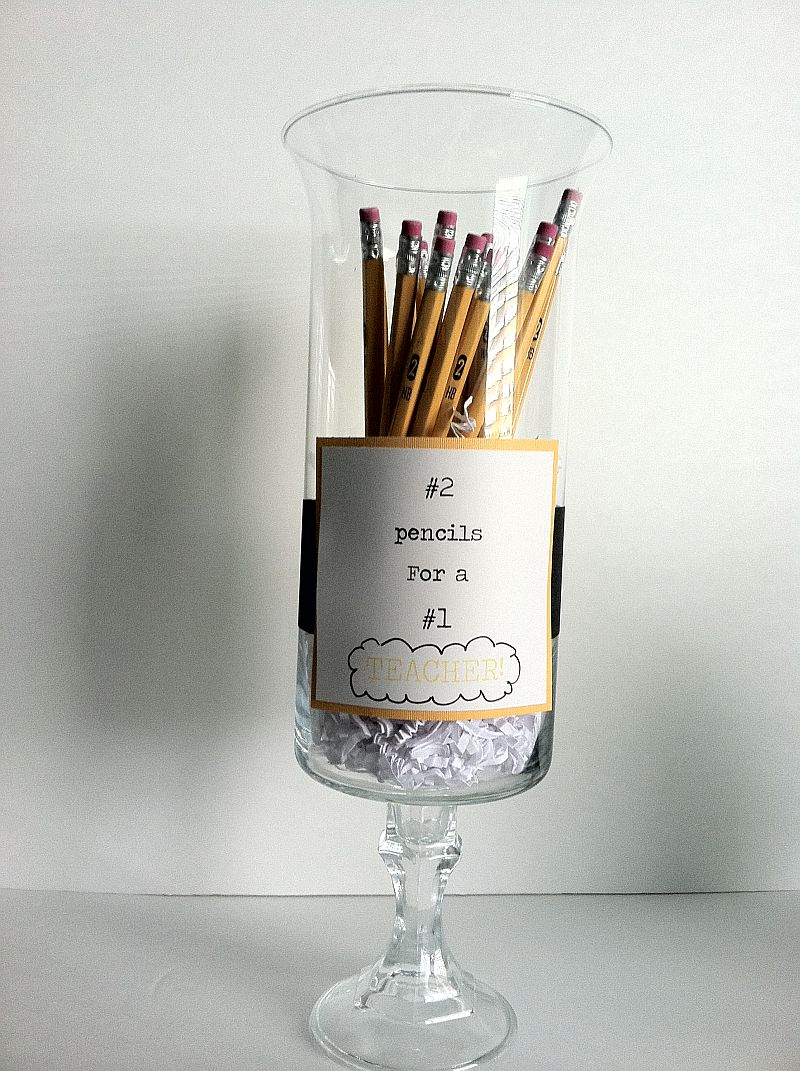 Teacher Gift: Pedestal Vase with Pencils