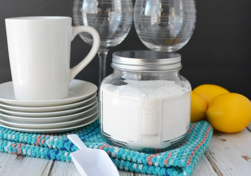 Homemade Dishwasher Soap is natural & cost effective to save on your budget
