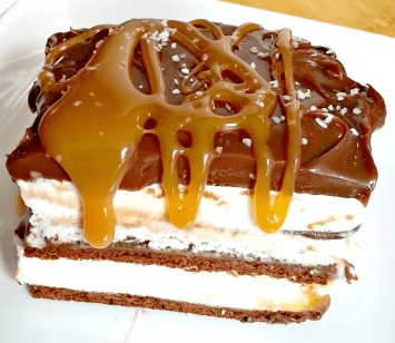 Salted Caramel Ice Cream Cake