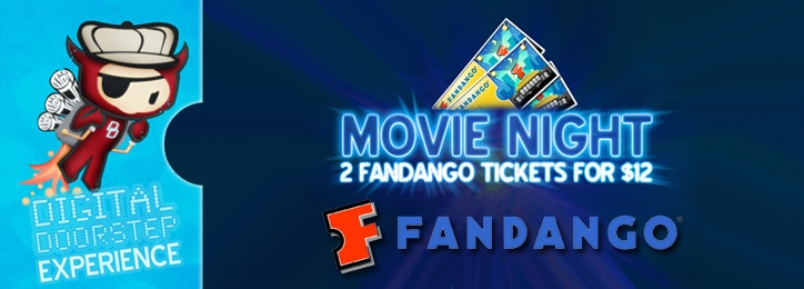 2 Fandango Movie Tickets for only $12 at Saveology