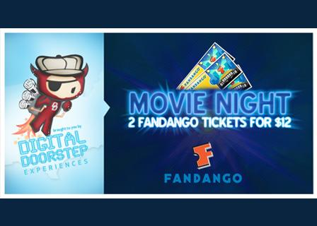 2 Fandango Movie Tickets for $12 ($7 for new members) on Tippr