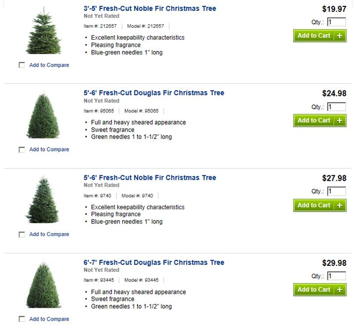 lowes live christmas trees price - Lowes Fresh Cut Christmas Trees