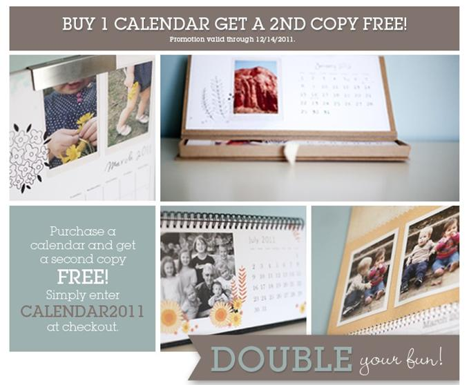 Buy One Get One FREE Calendars or $30 off Coupon Code from Paper Coterie
