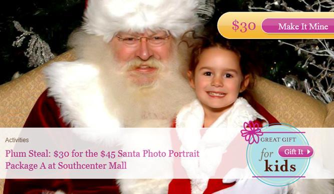 PlumDistrict.com Santa Photo Portrait Package and other Santa Portrait Opportunities