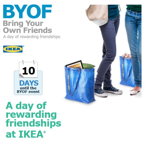 IKEA: Bring Your Own Friend Day on January 14th