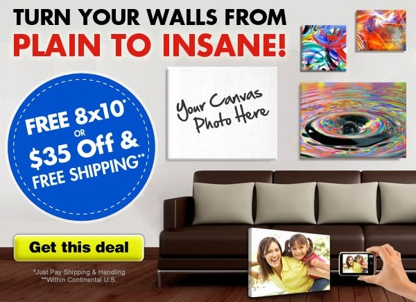 FREE 8 x 10 Photo Canvas – Pay Shipping around $15!
