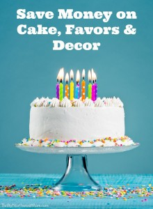 Parties for Less DIY Cake Favors & Decor