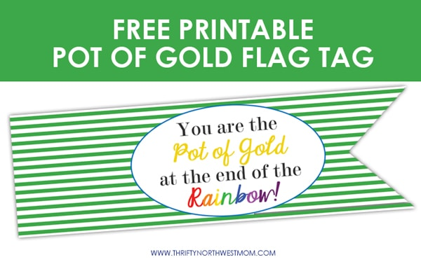 Free Printable St Patricks Day Pot of Gold Tag
