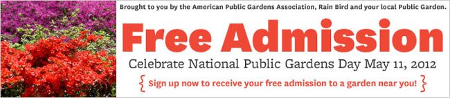 FREE Admission To Local Gardens – National Public Gardens Day