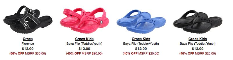 Up to 70% off Crocs Sale!