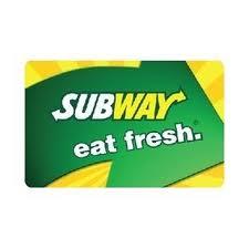 Giveaway – $100 Subway Card!