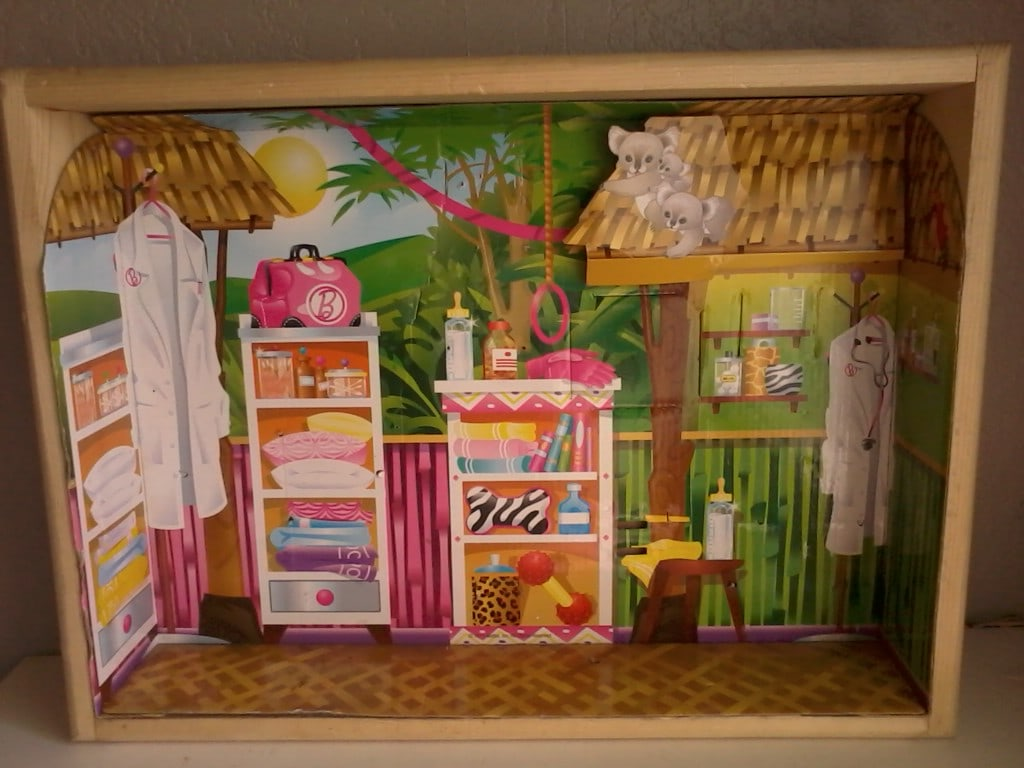 Frugal fun for kids make your own dollhouse thrifty nw mom for How to make your own dollhouse
