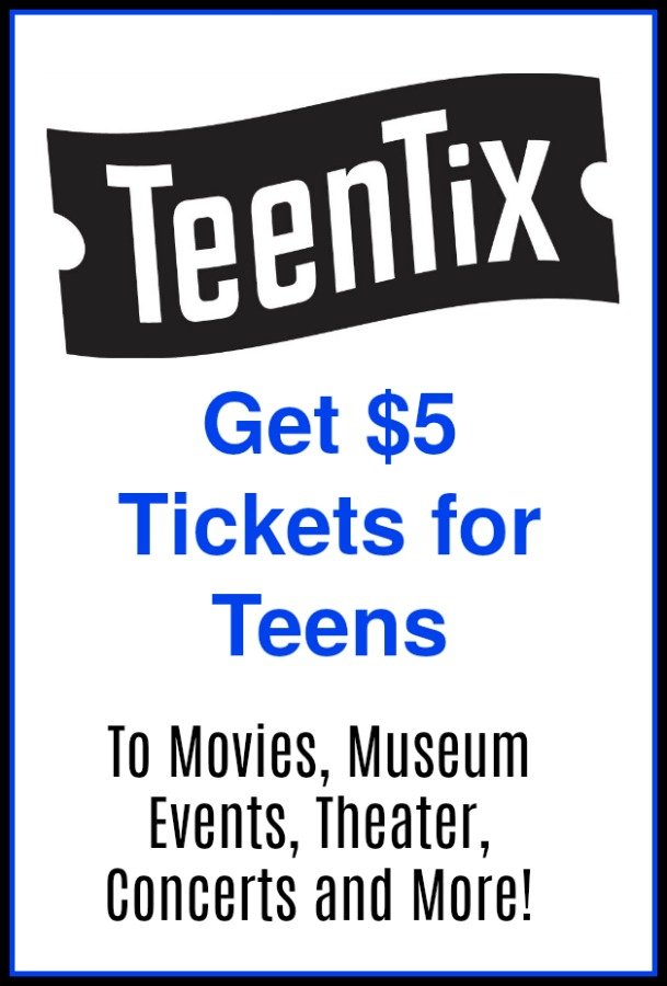 Teen Tix – $5 Tickets for Teens To Movies, Theater, Concerts, Museum Events & More!
