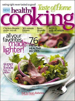 Healthy Cooking Magazine – One Year Subscription For $6.99