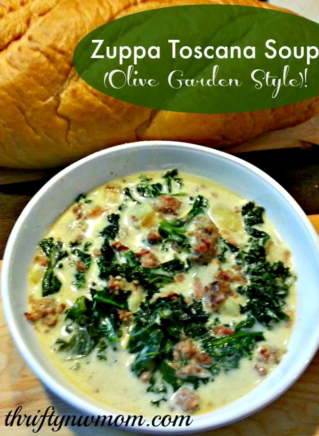 Olive Garden Zuppa Toscana Soup Copy Cat Olive Garden Recipe Thrifty Nw Mom