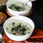 This Olive Garden Copycat Zuppa Toscana recipe is a creamy, hearty soup anyone will love!