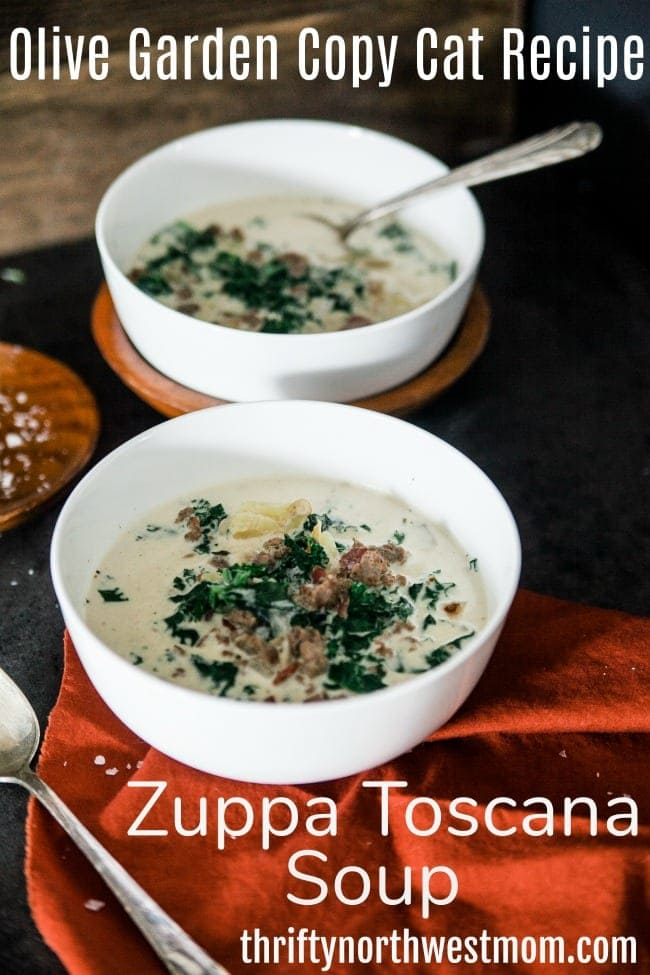 This Olive Garden Copycat recipe for Zuppa Toscana Soup is hearty & filling and sure to be a hit with everyone.